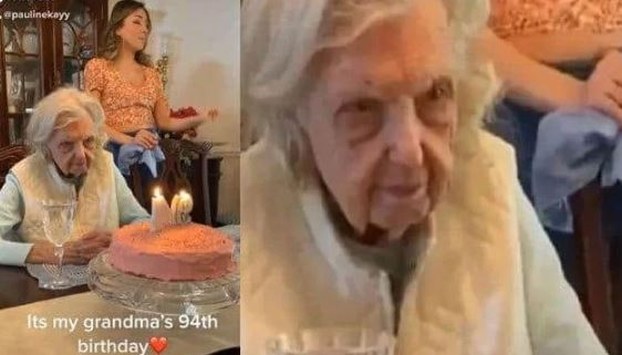Grandma's Unexpected Response To Her Birthday Song Goes Viral