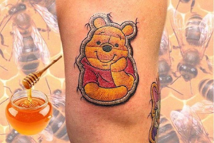 These Tattoos That Look Like Sewn-On Patches Are Stunning